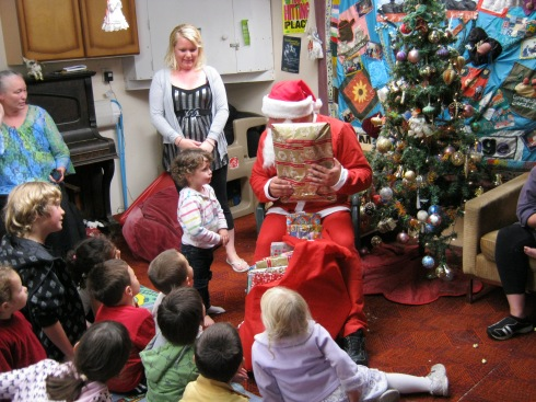 Christmas celebration with Santa at the Addington Playgroup and Mothers at Home Party